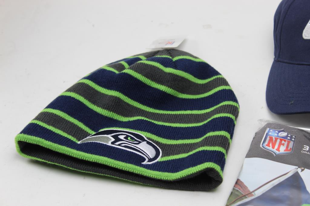 8c765028 Seattle Seahawks Hats And Beanies, 5 Pieces | Property Room