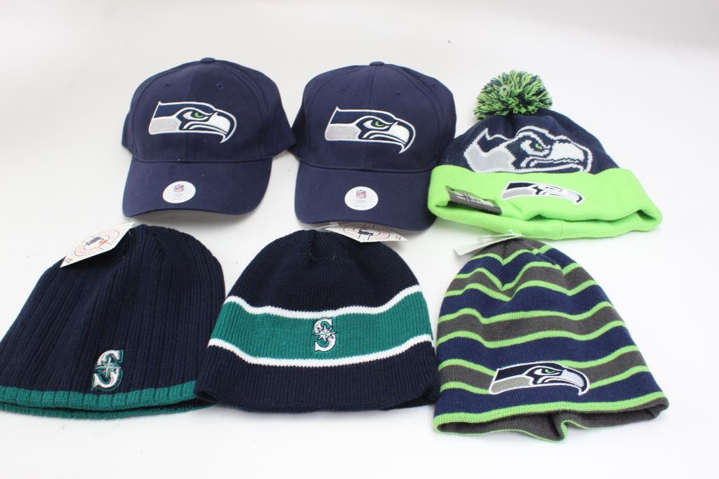22a58bd3d23 Image 1 of 3. Seattle Seahawks Hats