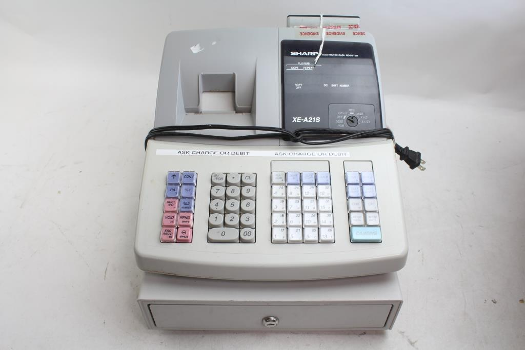 sharp xe a21s electric cash register property room rh propertyroom com sharp xe a22s user manual sharp xe a22s user manual