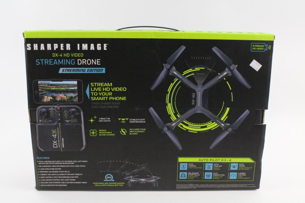 Sharper Image Dx 4 Hd Video Streaming Quadcopter Property Room