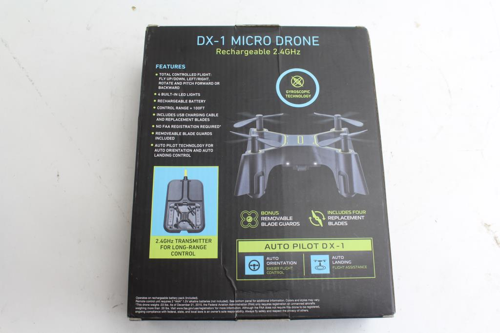 Sharper Image Transmitter Dx 1 Micro Drone Property Room
