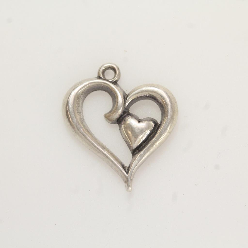 d7732bc579b85 Silver 1.8g James Avery Joy Of My Heart Charm | Property Room