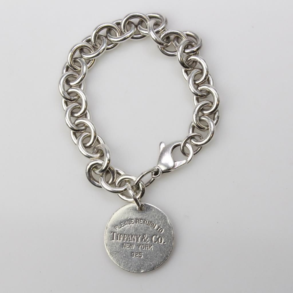Silver 36 9g Return To Tiffany Co Charm Bracelet