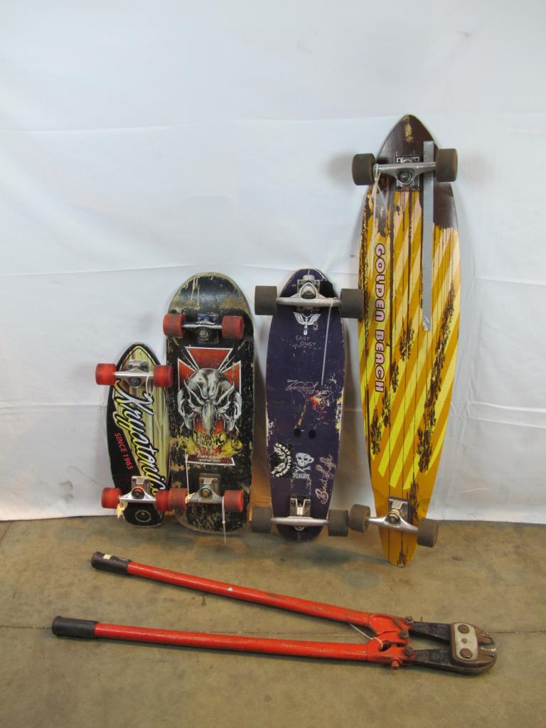 Skateboards Tony Hawk Golden Beach Kyptonics And Bolt Cutter 4