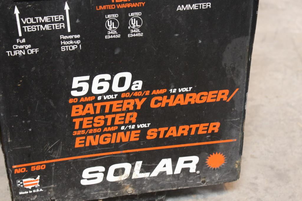 Solar 560a Battery Charger Tester Property Room