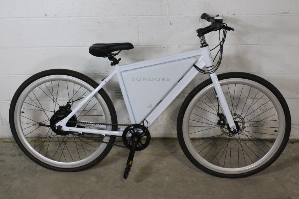 Sondors Thin Electric Bike White Property Room