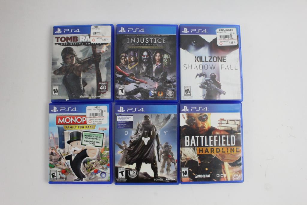 All Playstation 4 Games : Sony playstation games pieces and dvd and blu ray movies