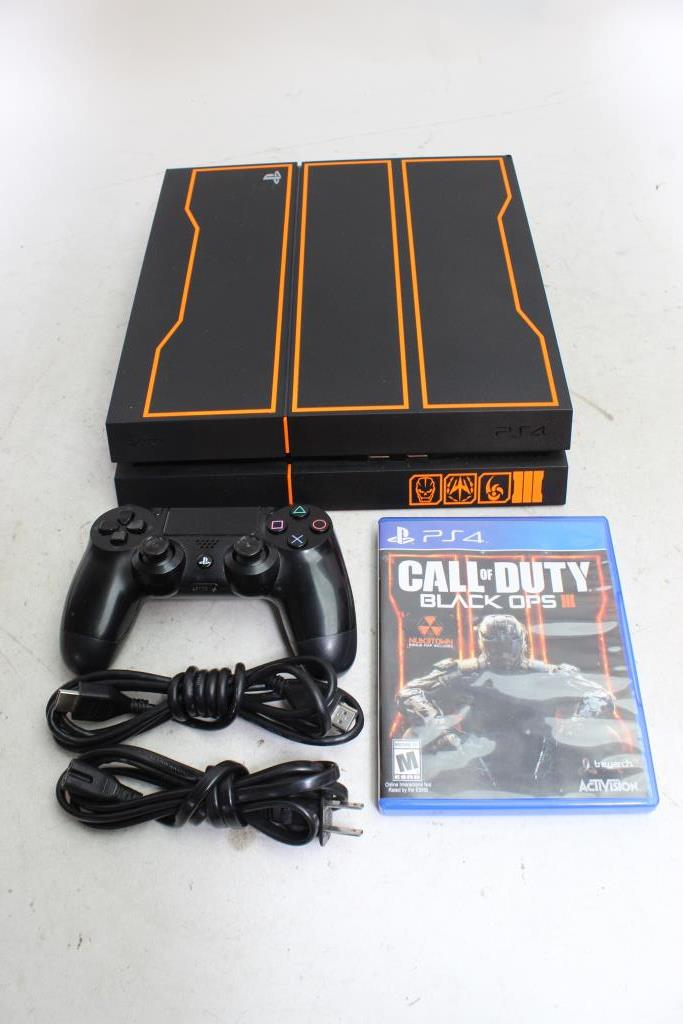 Sony Playstation 4 Video Game Console Call Of Duty Black Ops 3