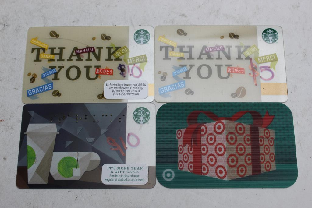 An Image Relevant To This Listing Starbucks And Target Gift Cards