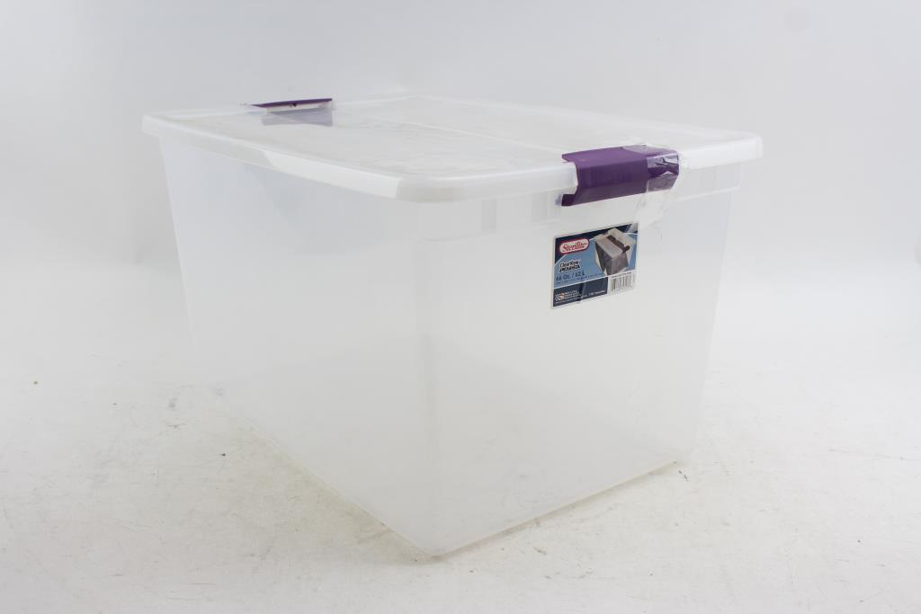 Sterilite Clear View Latch 66 Qt / 62 L Storing Tub   Property Room