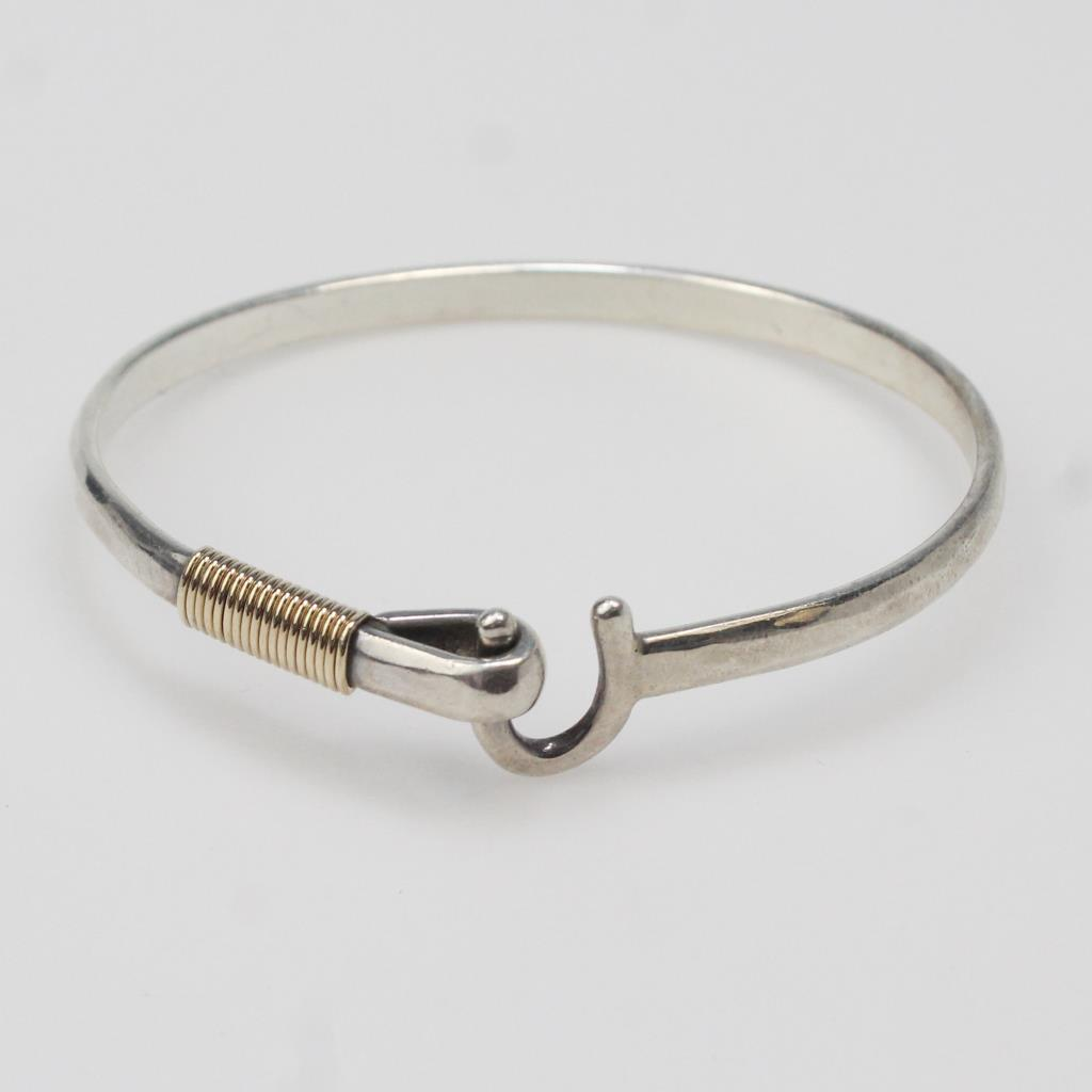 Sterling Silver 14kt Gold 12 6g Sonya St Croix Hook Bracelet