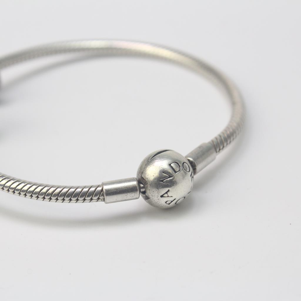 Sterling Silver 19 60g Pandora Bracelet With 2 Charms