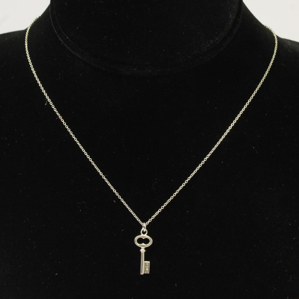Sterling Silver 2 1g Tiffany Co Key Necklace Property Room