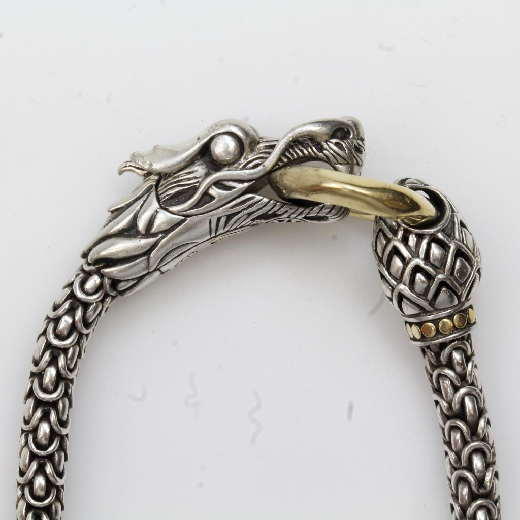 Sterling Silver 36g John Hardy Naga Dragon Bracelet With