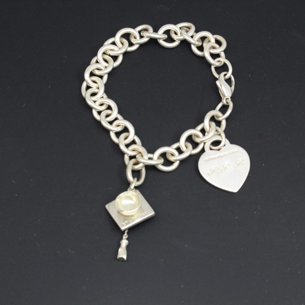 Sterling Silver 39 9g Tiffany Amp Co Bracelet With Graduation