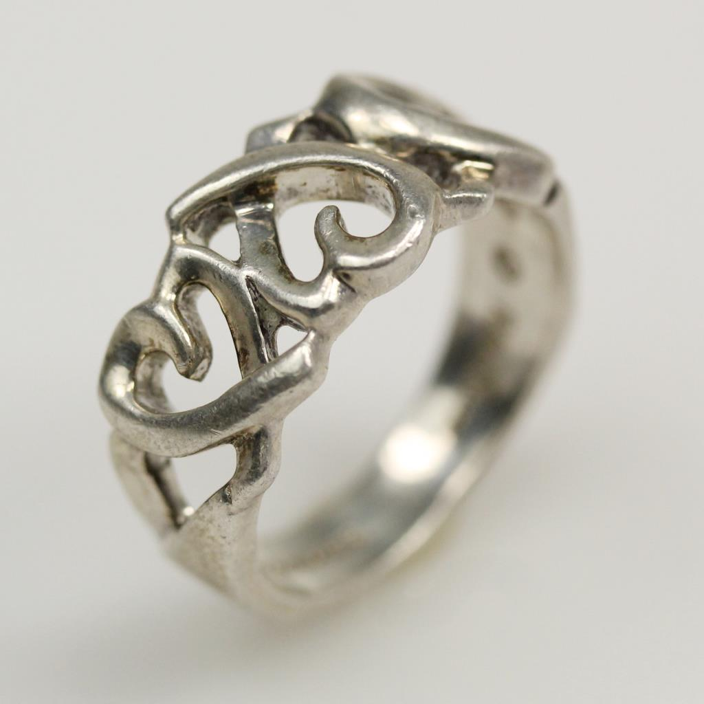c2ad6ecfa Image 1 of 4. Sterling Silver 4.0g Paloma Picasso Loving Heart Band Tiffany  & Co.