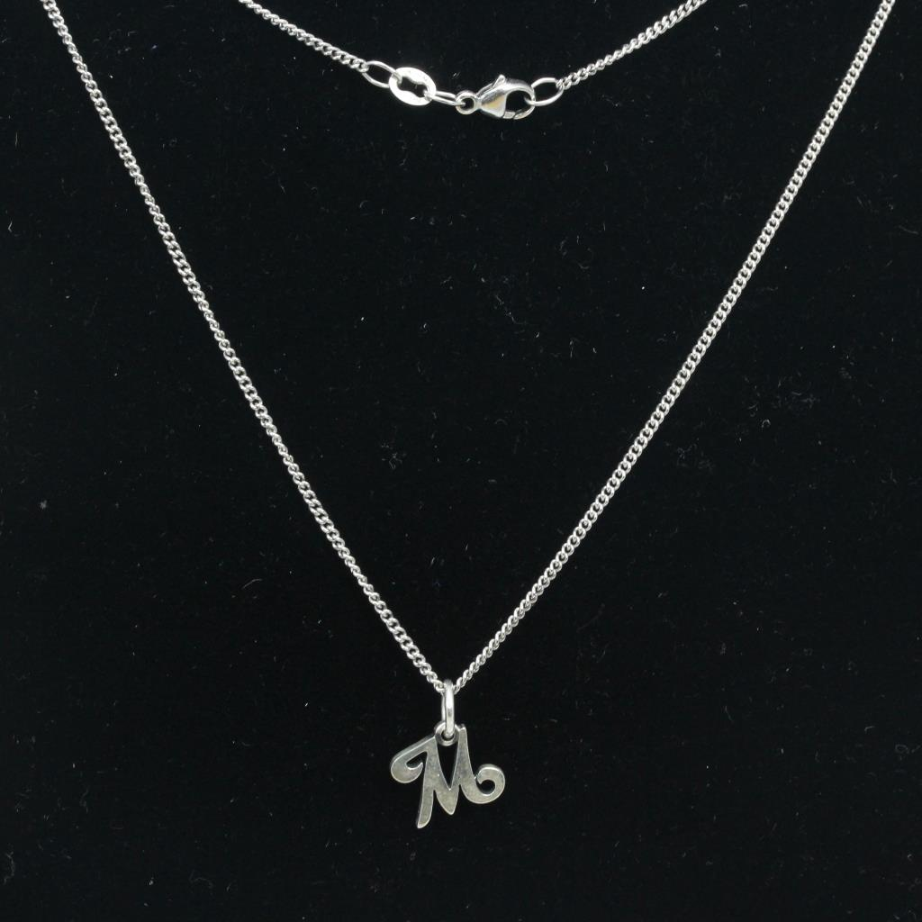 4ce409248 Sterling Silver 4 2g Necklace With Letter M Pendant Property Room