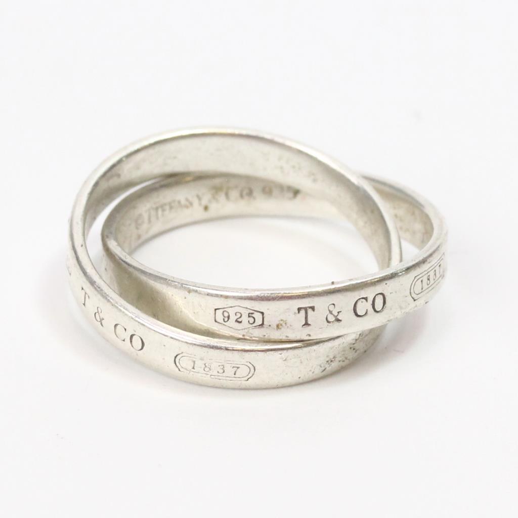 cf25e376c Sterling Silver 5.1g Tiffany & Co. 1837 Interlocking Circles Ring ...