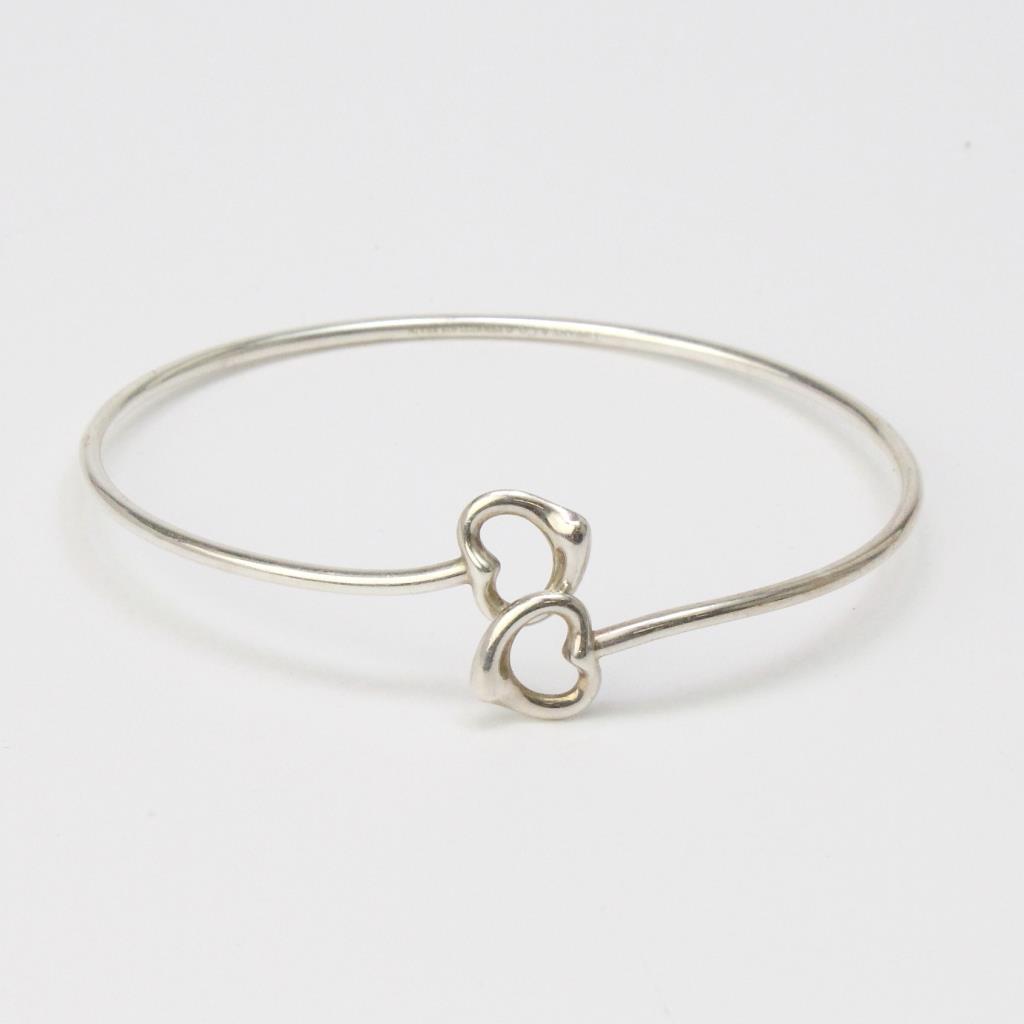 648096ea4 Sterling Silver 7.3g Tiffany & Co. Elsa Peretti Open Heart Bangle ...