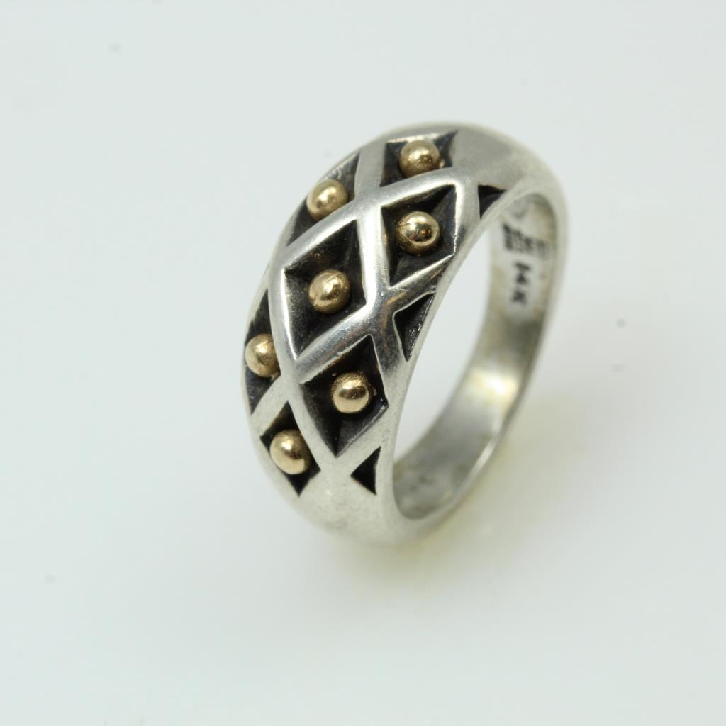 2179d24377c8a Sterling Silver With 14kt Gold Accents 6.3g Ring, James Avery ...