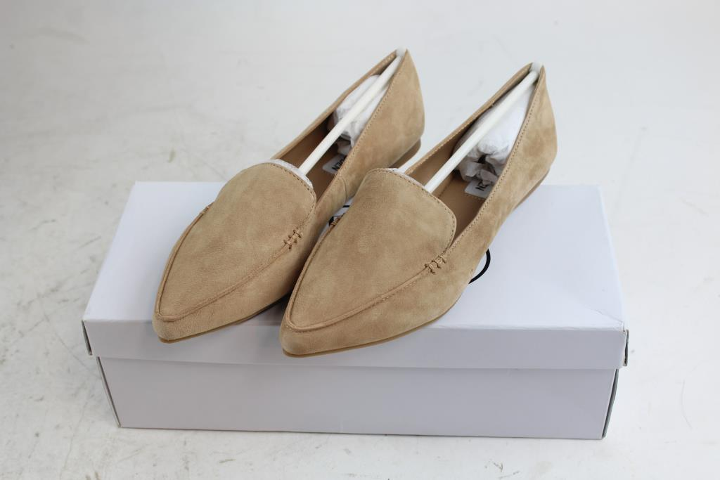 ed8ea5da282 Steve Madden Feather Camel Suede Shoes