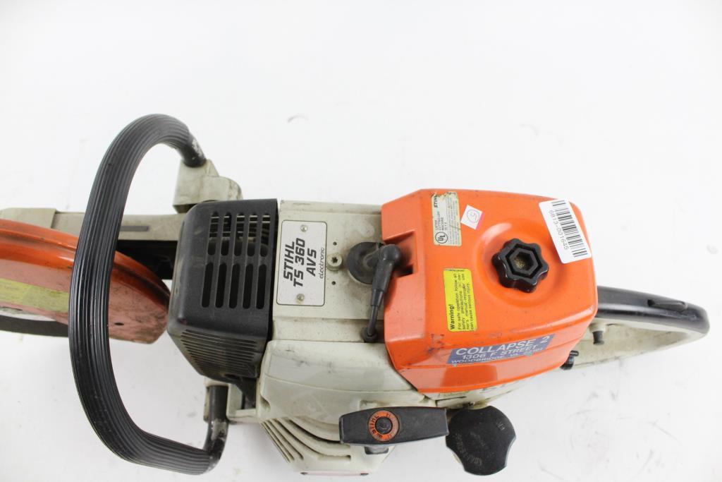 Stihl Concrete Cut Off Saw Property Room