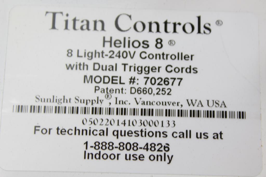 Sunlight Supply An Controls Helios 8 Light 240v Controller