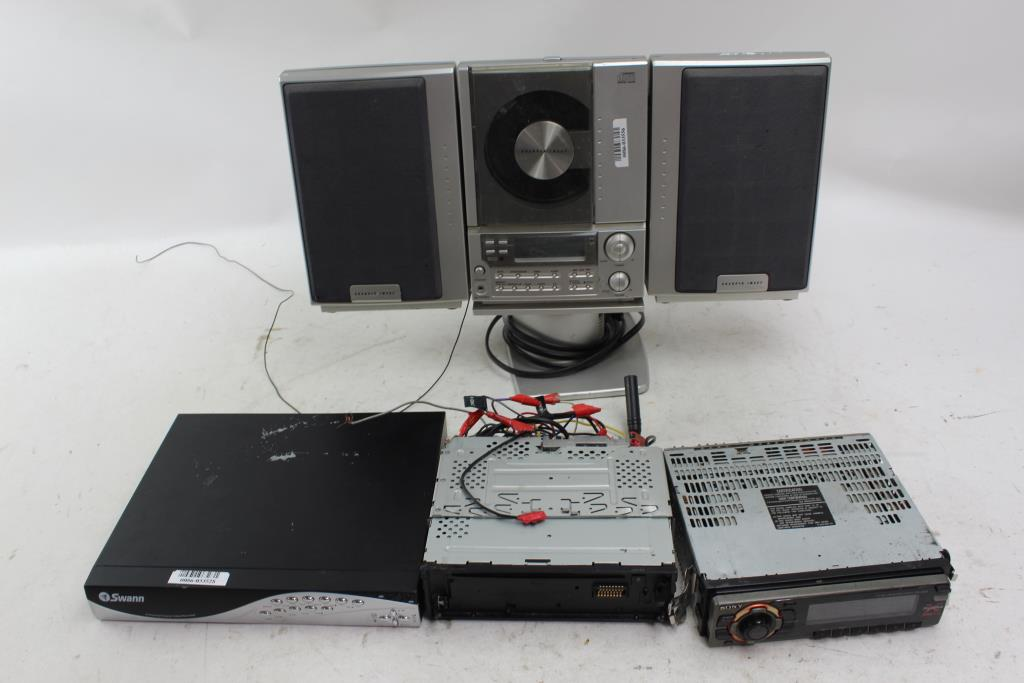Swann Dvr Sharper Image Cd Stereo And More 4 Pieces Property Room