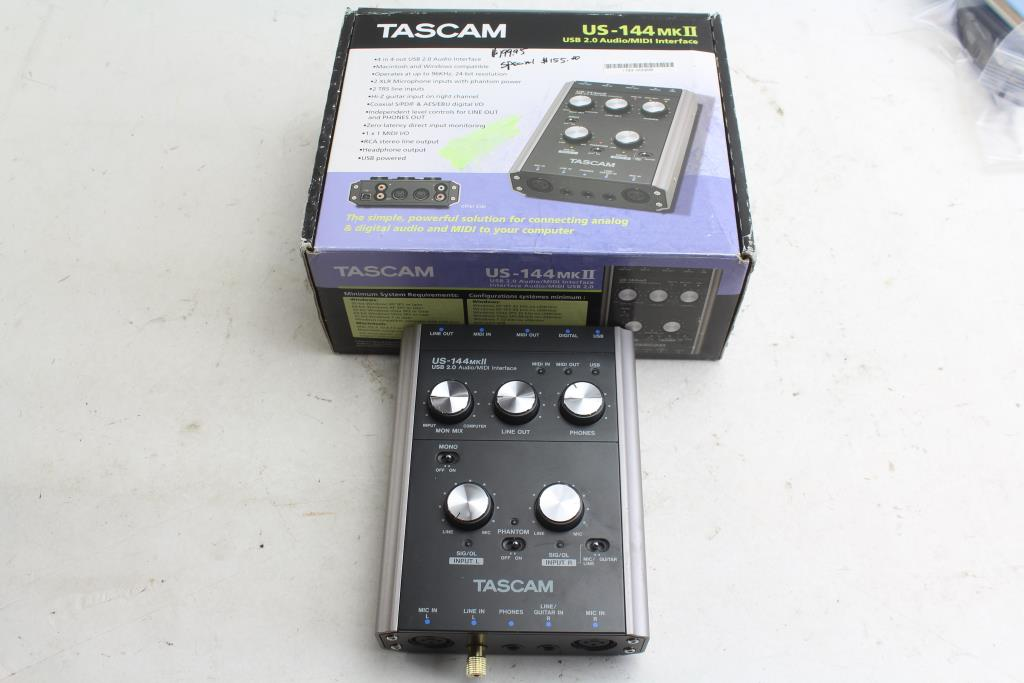 Tascam US-144MKII USB 2.0 4-channel Audio/MIDI Interface   Property Room