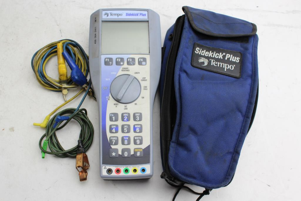 tempo sidekick plus cable tester property room rh propertyroom com Cable Tester Sidekick 7B Tempo Tempo Sidekick Repair