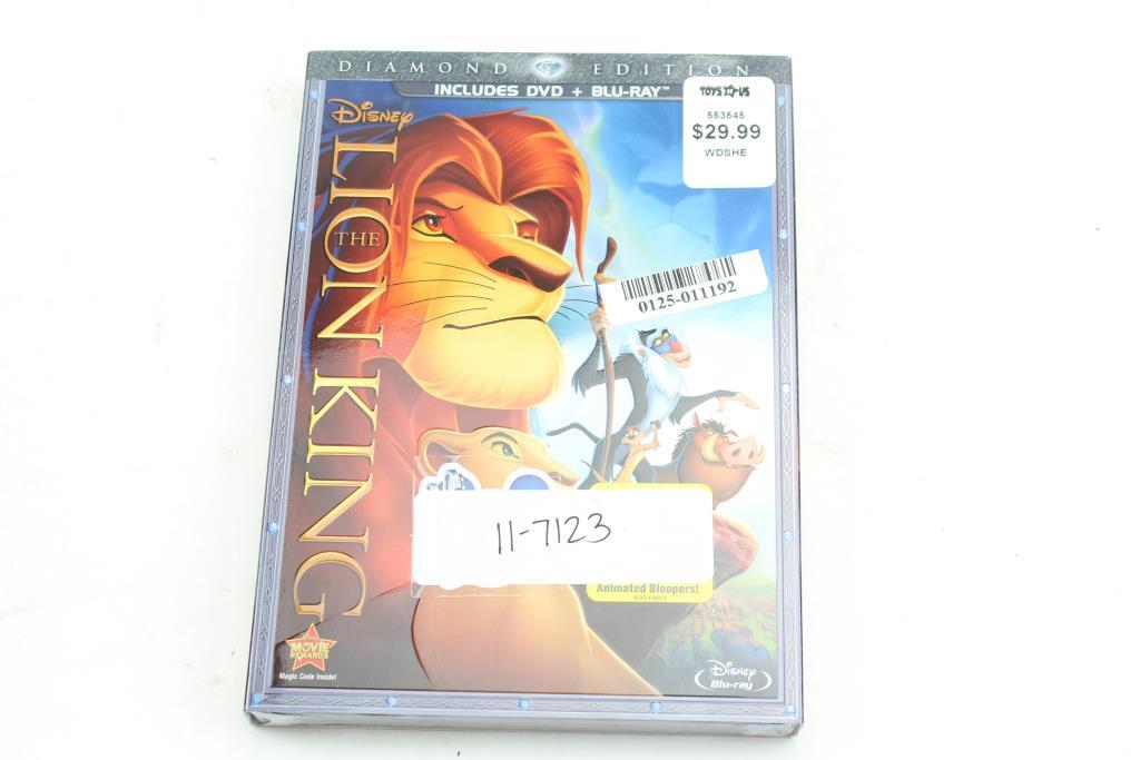 The Lion King Diamond Edition 2 Discs Dvd Blu Ray 1994 Property Room