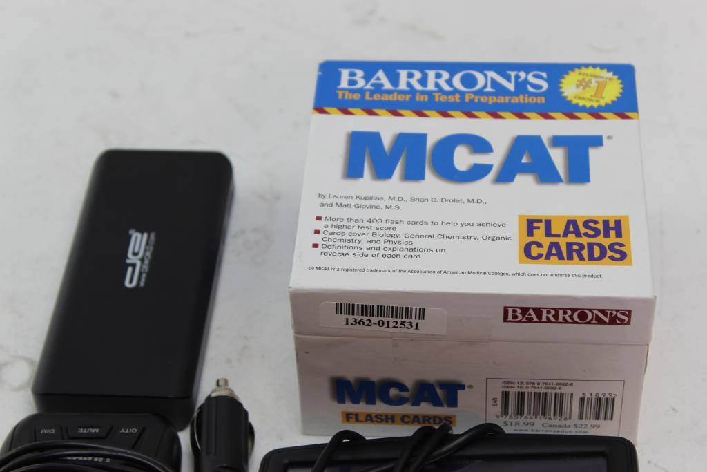 Tomtom Gps Uniden Radar Detector De Powerbank Barrons Flash Cards