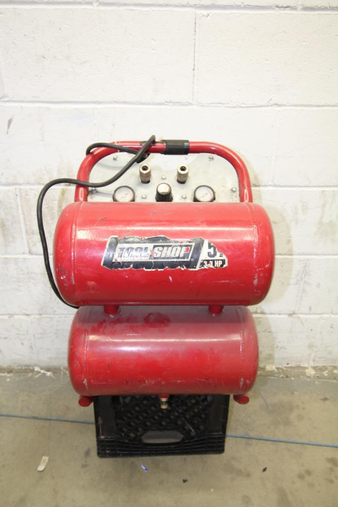 tool shop air compressor | property room