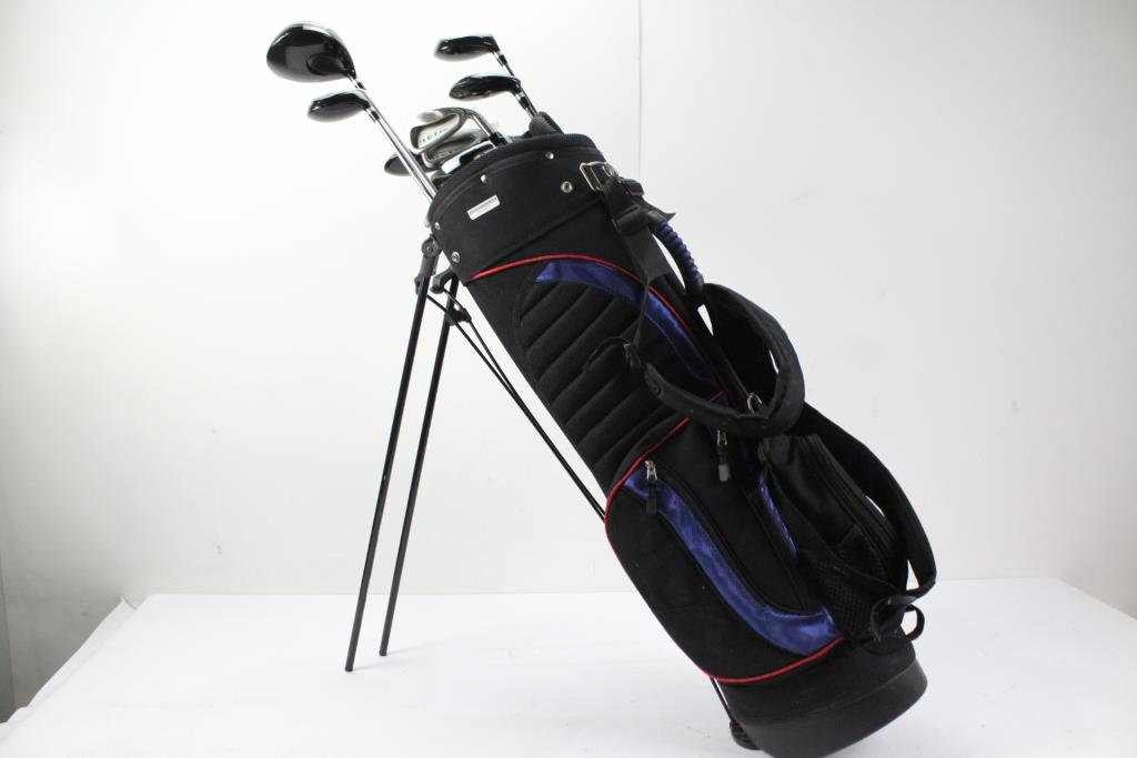 Top Flight Hct Tour Golf Clubs Bag 12 Items