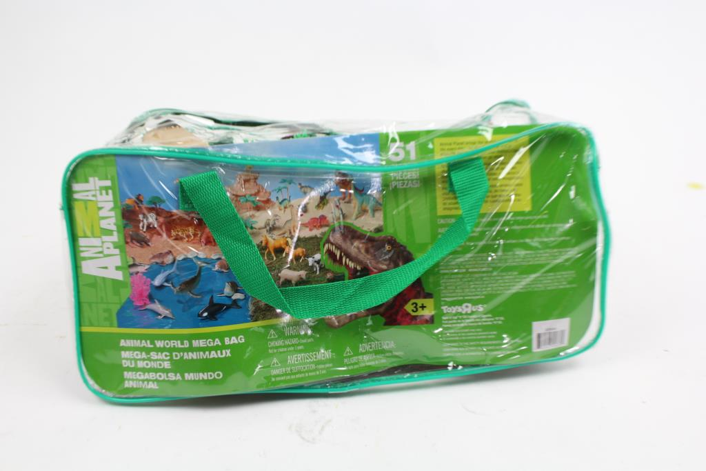 Toys R Us Animal Planet World Mega Bag With Assorted Toy Figures