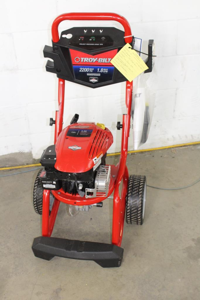 Troy Bilt 2200 Psi Pressure Washer Property Room