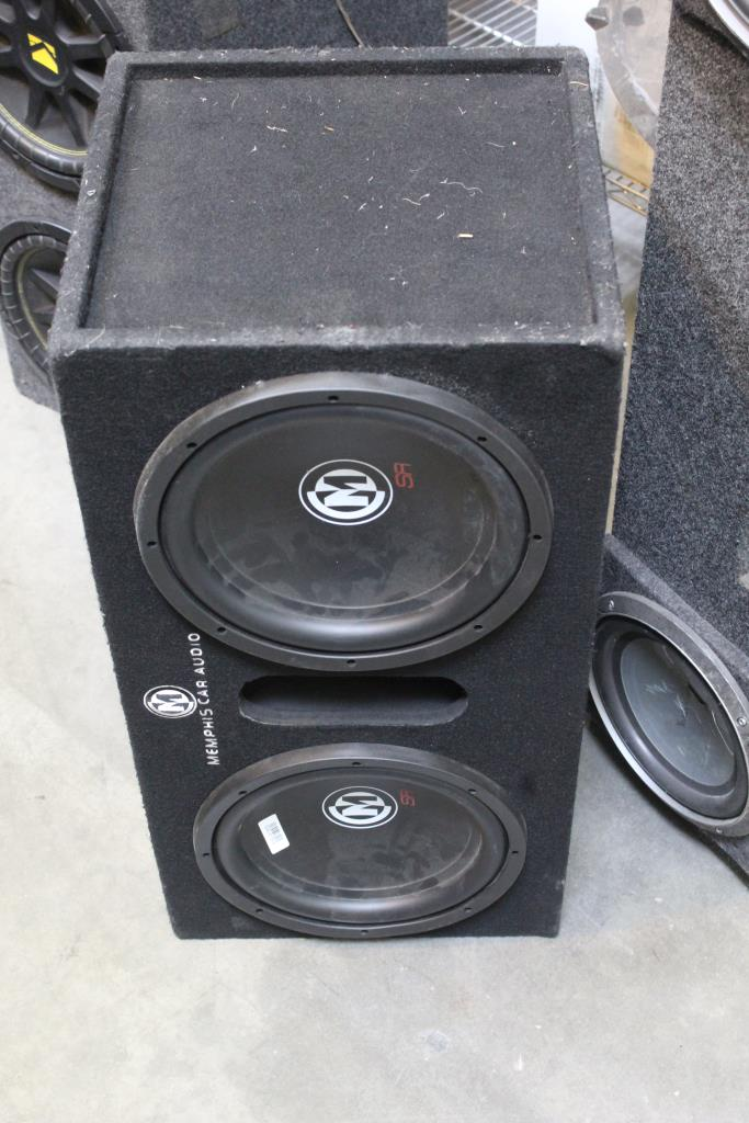 twin memphis sr car audio speakers and speakerbox property room twin memphis sr car audio speakers and