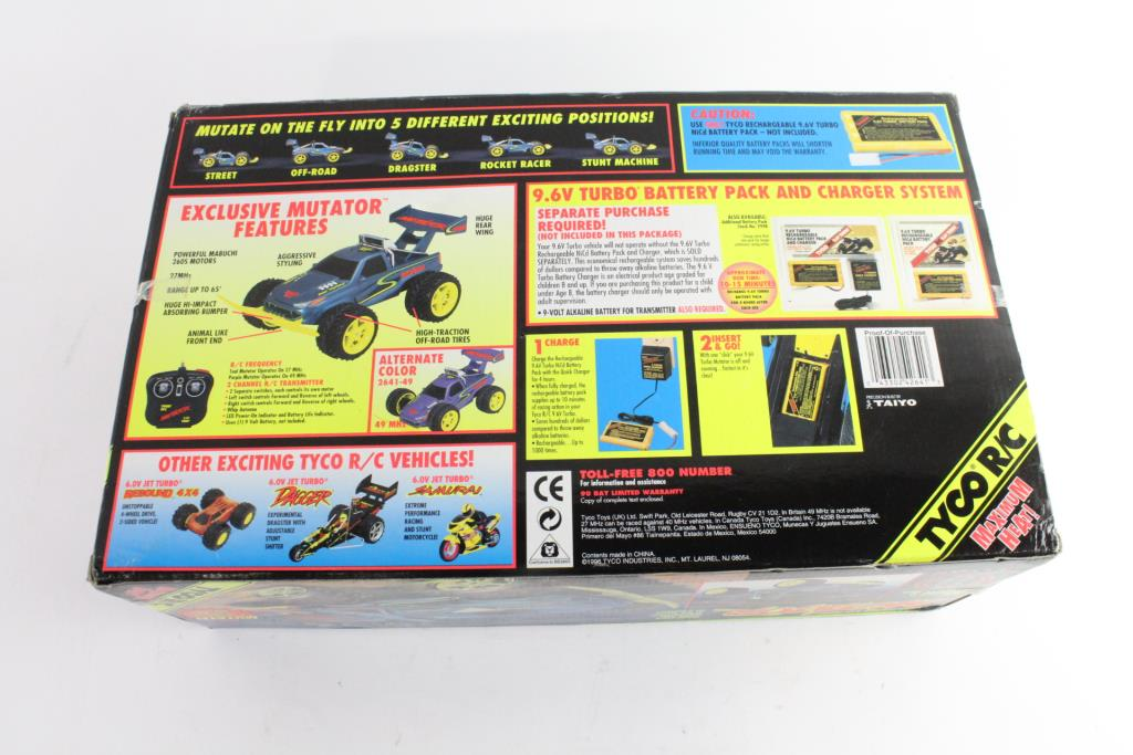 Tyco Rc Mutator Remoted Controlled Car Property Room
