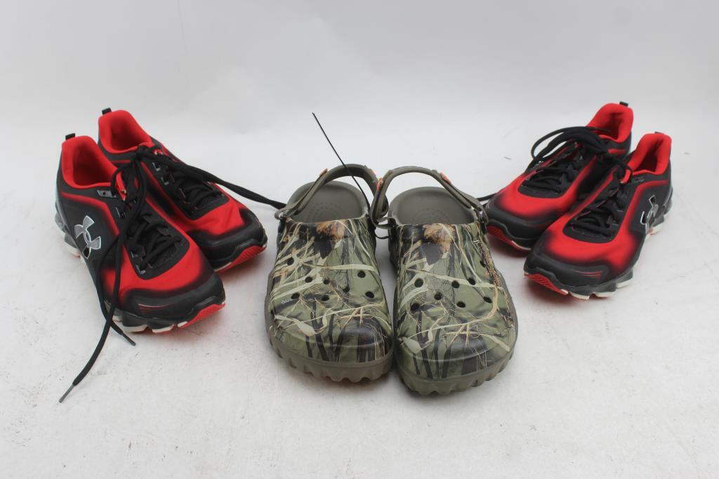 Under Armour \u0026 Crocs Shoes; 3 Pieces