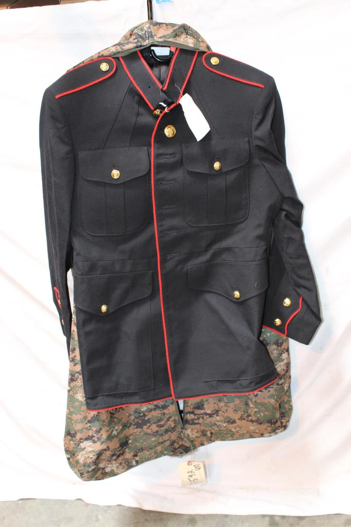 United States Marine Corps Dress Blues Uniform Property Room