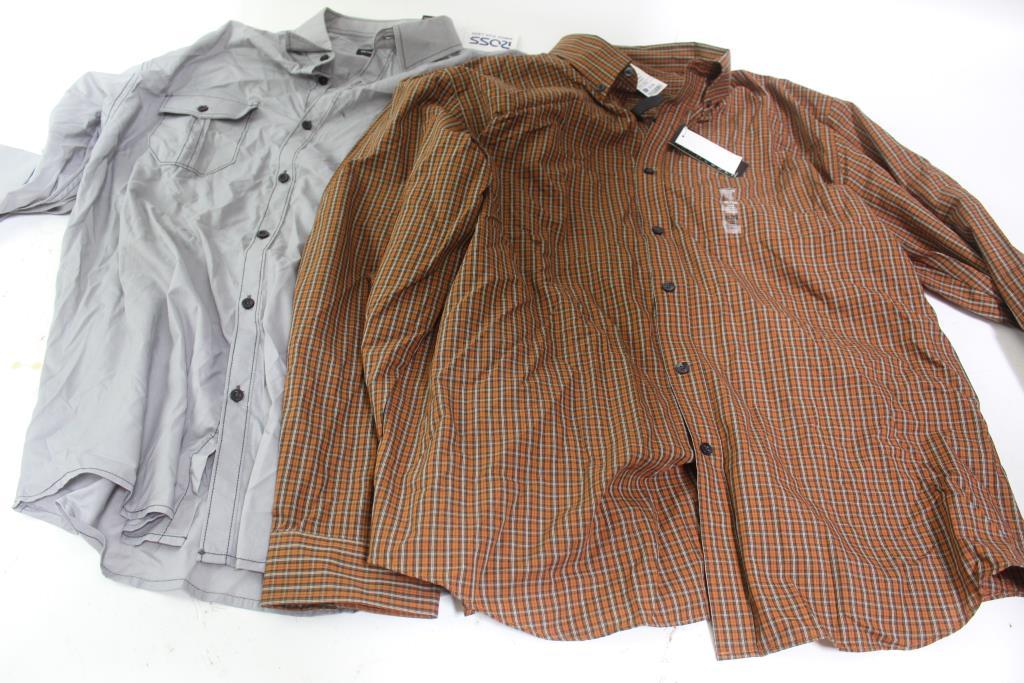 38accd2639bb Van Heusen & Michael Brandon Mens Button Shirts & Starter Crew Socks; 3  Pieces; Size Xl
