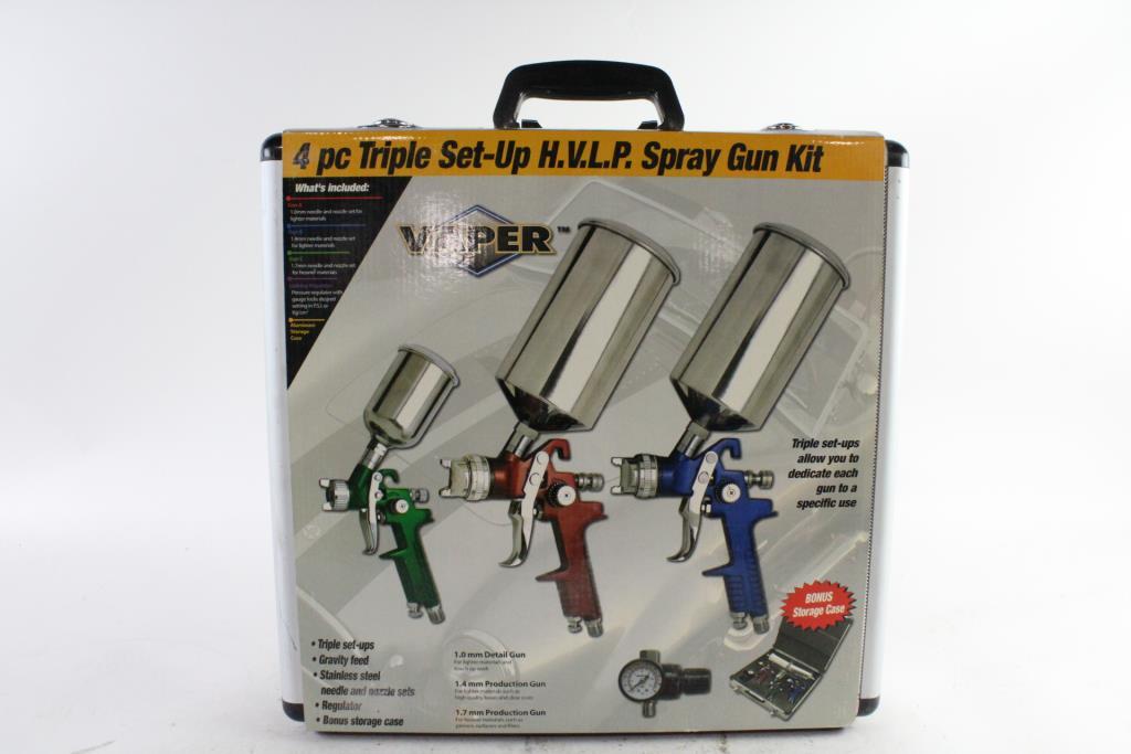 Amazon. Com: vaper hvlp spray gun set with plastic cup 1. 4mm.