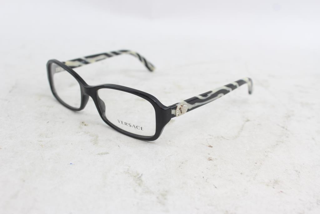 Versace Black Frame With Zebra Temples Glasses | Property Room