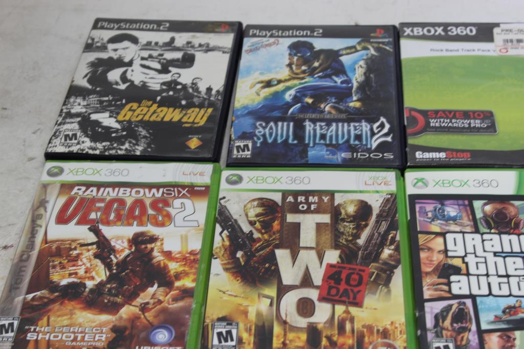 Video Games: PS2, PS3, XBox, Xbox 360: Portal 2, Grand Theft Auto V