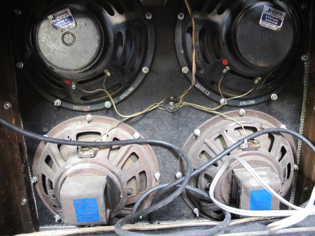 Vintage Fender Super Reverb Silverface Tube Amp Property Room Wiring