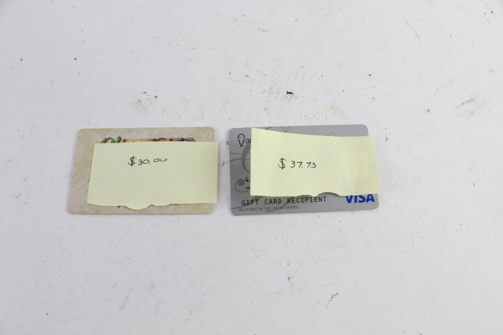 Visa And Olive Garden Gift Cards 6773 2 Pieces Property Room