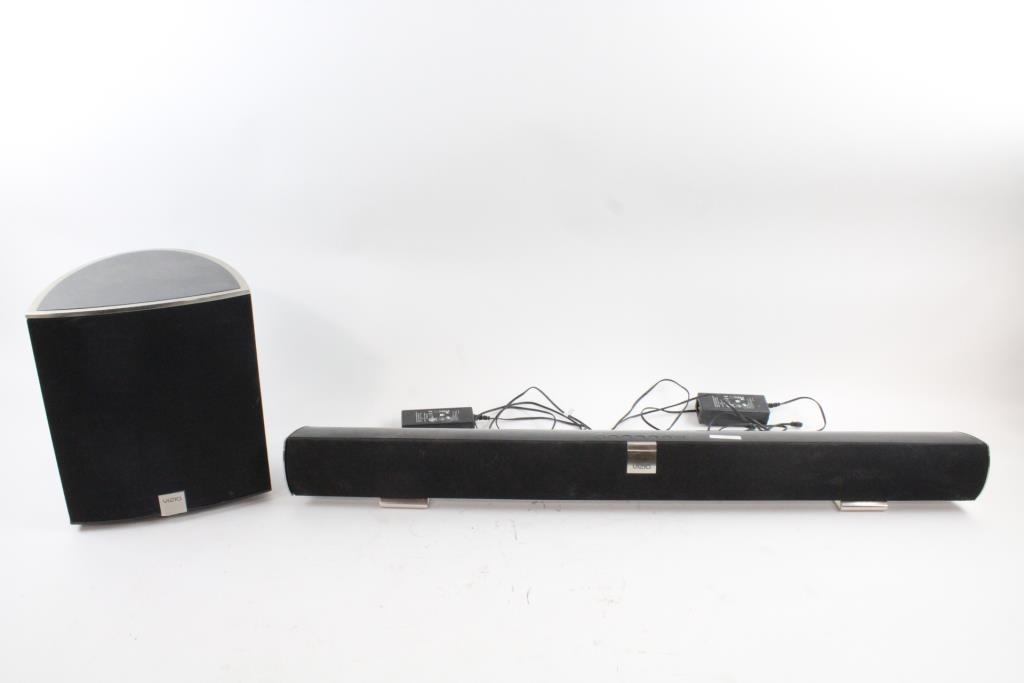 Image 1 Of 8 Vizio Soundbar Speaker With Subwoofer 2 Pieces
