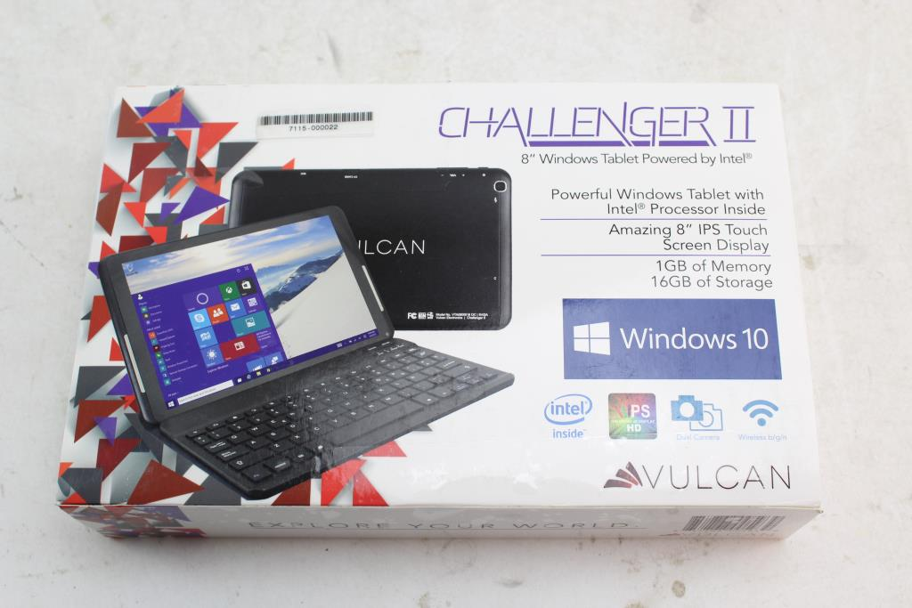 Vulcan Challenger II Windows Tablet, 16GB, Wi-Fi Only