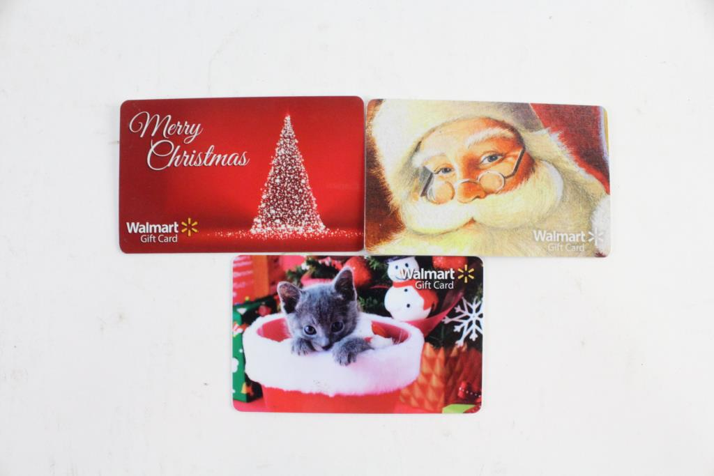Walmart Gift Card, 3 Pieces $60.00 | Property Room