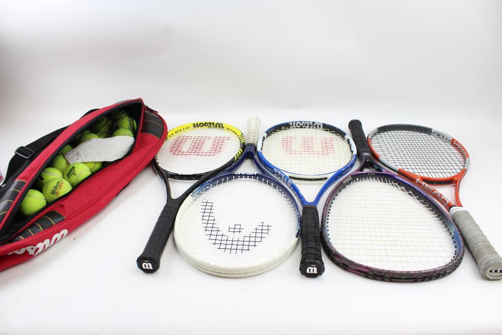 Wilson Tennis Bag, Wilson, Head Tennis Rackets, Tennis Balls: 15+